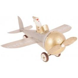 Aeroplano Prata e Dourado G