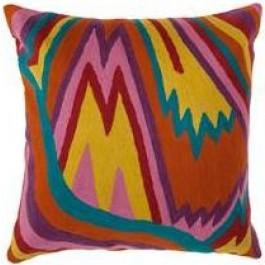 Capa de Almofada Quadrada Bordada Color Waves