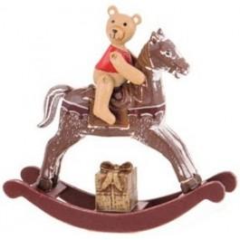 Cavalinho de Pau com Urso Marrom