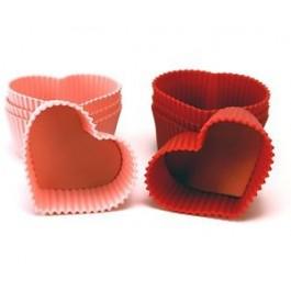 Forma Cupcake Coração 8 unid.