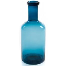 Garrafa Vidro P Azul 30x12cm
