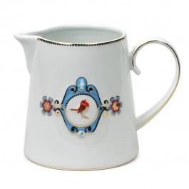 Jarra Love Birds PiP Studio Branco/Azul 900ml