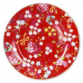 Prato Bolo Chinese Rose PiP Studio Vermelho