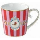 Caneca Love Birds PiP Studio Stripes Verm/Rosa 250ml