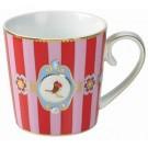 Caneca Love Birds PiP Studio Stripes Verm/Rosa 150ml