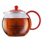 Bule c/ Infusor Chá Bodum Vermelho 1L