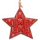 Enfeite p/ Pendurar Estrela Vermelha de Metal