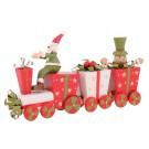 Locomotiva Papai Noel c/ Presentes em Madeira