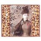 Porta Retrato Vidro Frisado Fringe Studio Leopard
